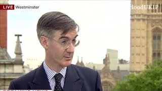 Jacob Rees Mogg says he will not support May soft Brexit