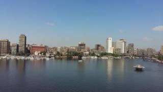 منظر جميل لنهر النيل بالقاهرة