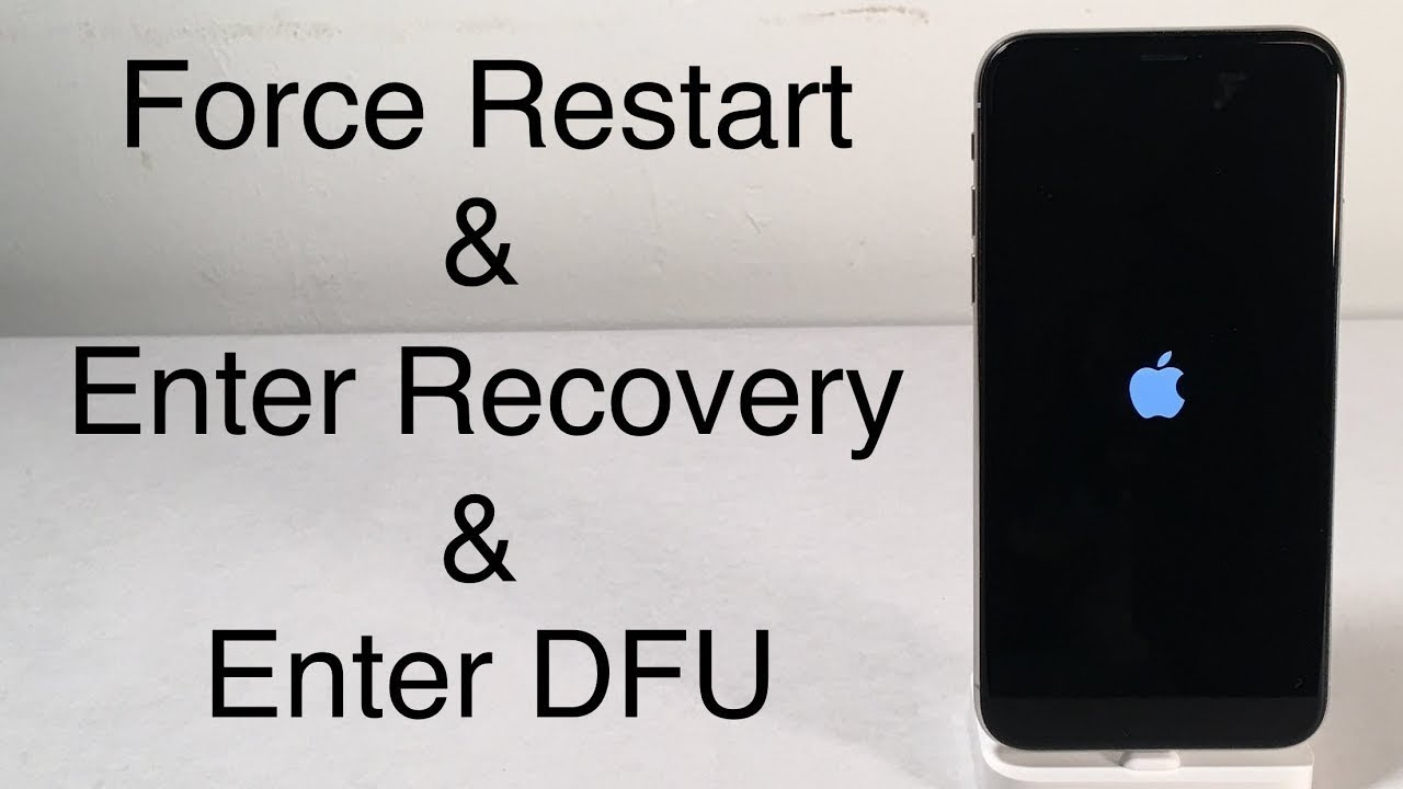 IPHONE X IPHONE 8 how to enter recovery mode & dfu mode fource restart by  keys