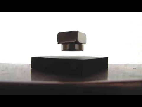 Levitating Magnets With Pyrolytic Graphite Youtube