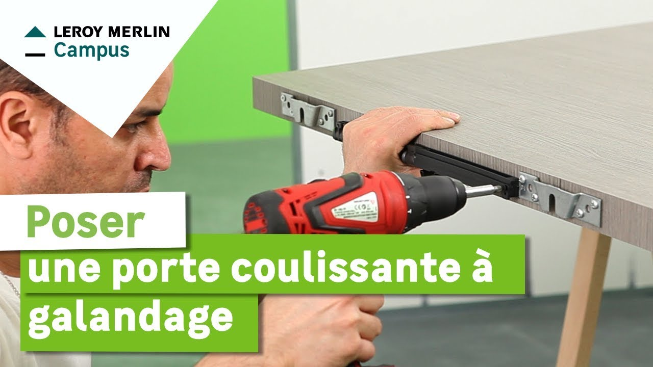 Comment poser une porte coulissante a galandage leroy for Porte de garage coulissante et double porte salon