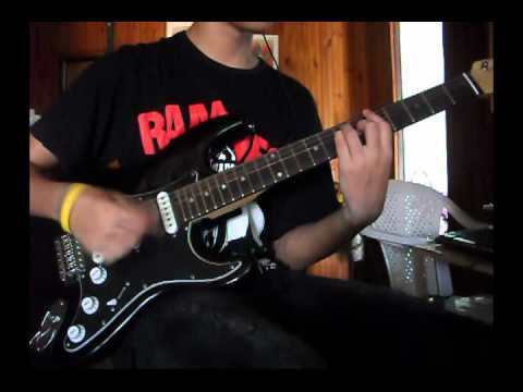The Ramones I Dont Care Guitar Cover By Halison Youtube