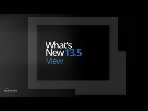 What's New in Remote Desktop Manager 13.5 - Documentation/Thumbnail Options