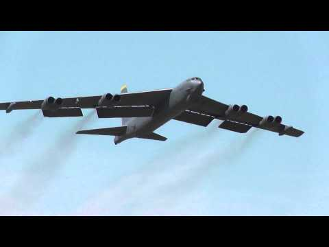 B52 take off, touch and go, and landing  RAF Fairford