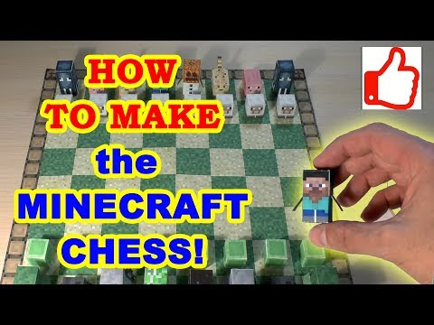 Minecraft Chess Board and Pieces Set - Real Life Skill