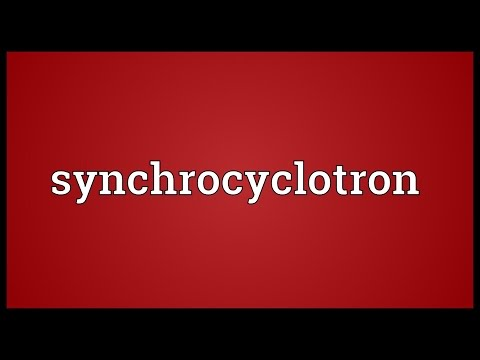 Header of synchrocyclotron