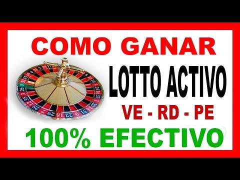SISTEMA  PARA GANAR EN EL LOTTO ACTIVO - 100% EFECTIVO