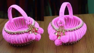 DIY Crafts Ideas - Woolen Craft Ideas For Room Decor || Best reuse ideas - Amazing Woolen Design