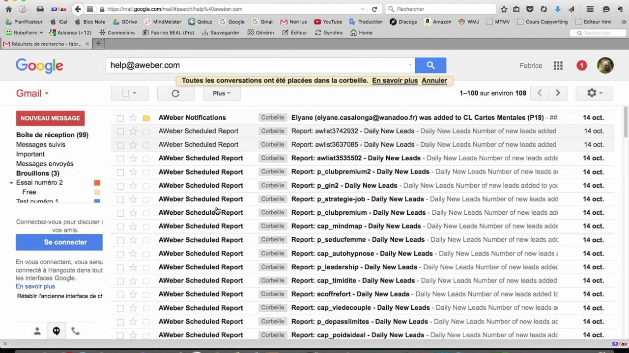 Utiliser la fonction messages suivis sur Gmail