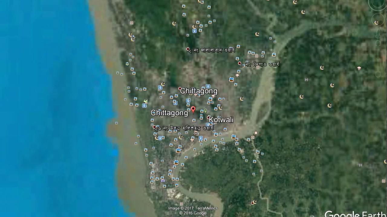 chittagong city map bangladesh Chittagong Map Youtube chittagong city map bangladesh