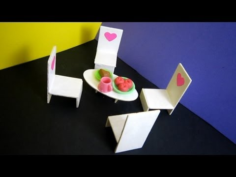 How to make a balsa wood coffee table for your lps or your fashion doll - EP - simplekidscrafts