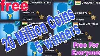 5 ACCOUNTS 20M COINS ACCOUNT GIVEAWAY RESULT ANNOUNCE