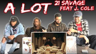 21 SAVAGE - A LOT FT. J COLE VIDEO REACTION/REVIEW