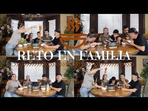 RETO EN FAMILIA / SPICY NOODLE CHALLENGE   -- MAKEUP BY JESSICA --  