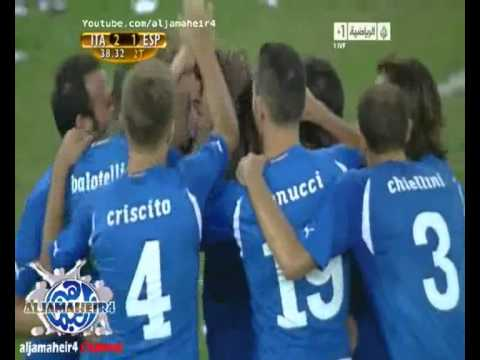 Italy (2) VS Spain (1) - Aquilani Scored A Great Goal