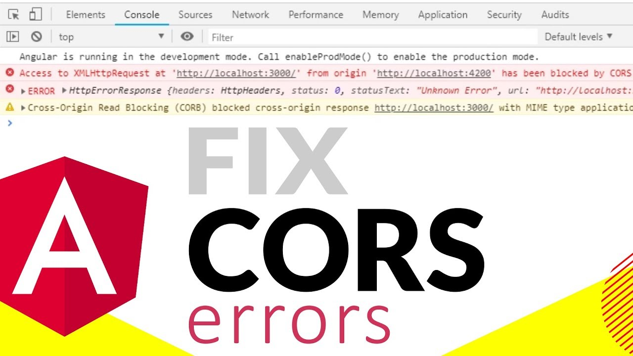 FIX CORS ERROR IN ANGULAR - QUICK FIX