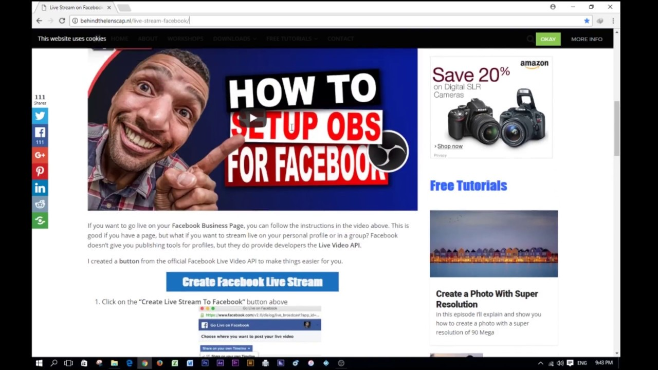 how to live profile facebook with OBS Studio-obs facebook live