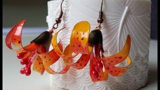 Nail  polish  earrings N.3