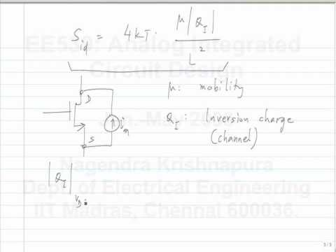lecture 16 MOSFET noise mode; BJT small signal and noise