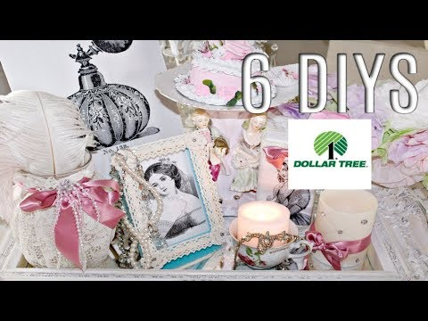 💖6 DIY DOLLAR TREE FRENCH CHIC DECOR CRAFTS /GLAM/ BRIDAL 💖 Olivia's Romantic Home DIYS thumbnail
