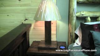 Timberwood Barnwood Rustic Table Lamp From Logfurnitureplace.com