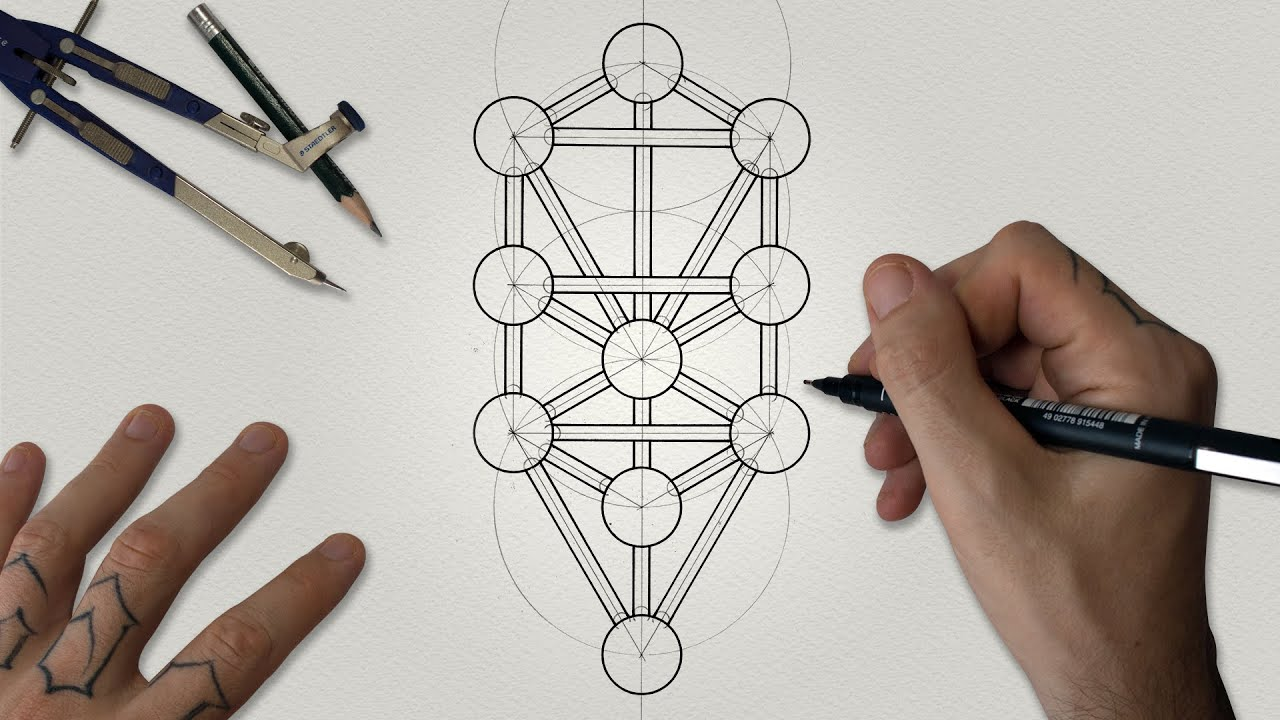 How To Draw The Tree Of Life Kabbalah Sacred Geometry Drawing Tutorial Youtube Tree of life tattoos and ways of carrying it with you. how to draw the tree of life kabbalah sacred geometry drawing tutorial