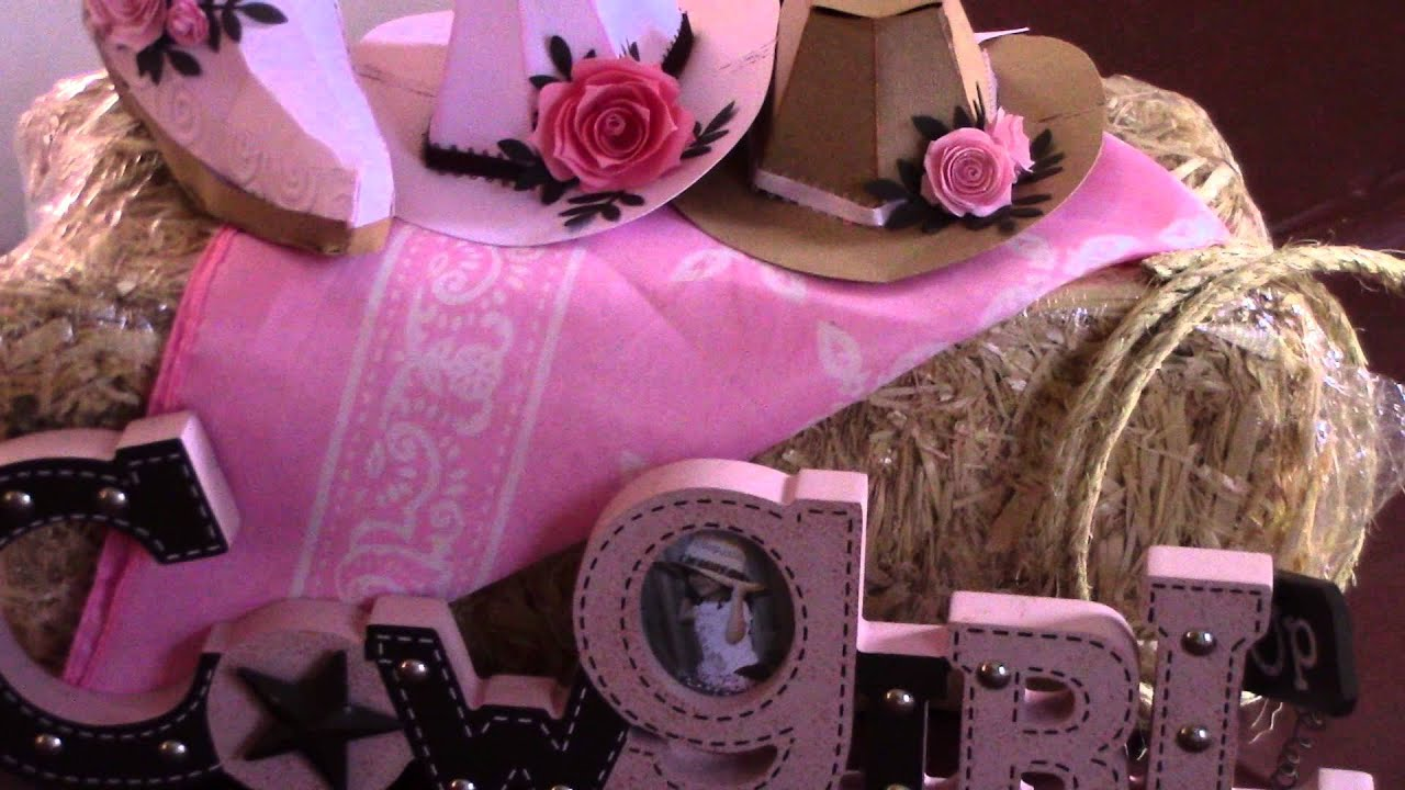 Western Cowgirl Pink N Brown Party Decor YouTube