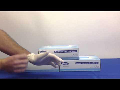 Invacare Powder Free Latex Exam Gloves