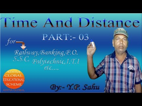 Time And Distance Part:- 03 Railway,Banking, P.O. S.S.C,Polytechnic,etc.. By:- Y.P. Sahu In hindi