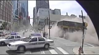 CCTV  Bus Camera Captures Pa  Building Collapse in Philadelphia