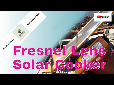 DIY Solar Cooker Fresnel Lens Office Chair Box Spring