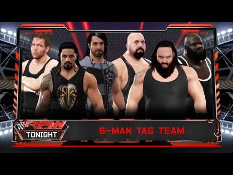 The Shield  vs. Braun Strowman & Big Show & Mark Henry -6 Man Tag Team match-RAW 2017- WWE 2K17