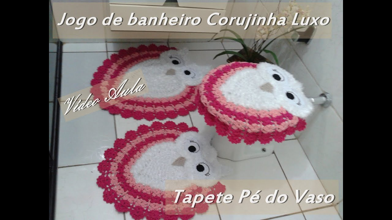 Jogo de Banheiro Corujinha Luxo Tapete Pé do vaso   #88213E 2500x1875 Banheiro De Luxo Container