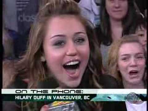 See Miley Cyrus Freak Out Over A Surprise Phone Call From Hilary Duff