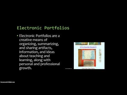 Electronic Portfolio PowerPoint Presentation