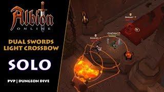Albion Online - Solo PvP | Random Dungeon Dive #4 | Dual Swords & Light Crossbow