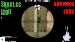 skeet.cc legit bot vs AIMWARE.net rage hack   mm hvh
