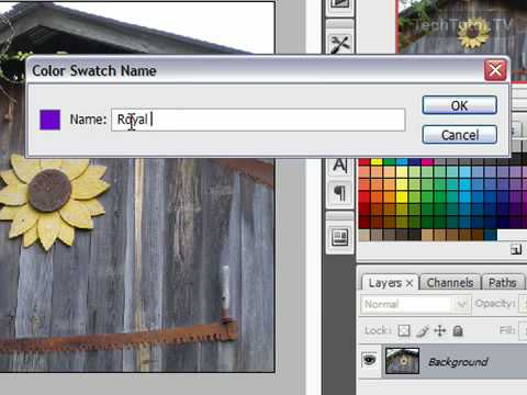 Create a New Color Swatch in Photoshop CS3