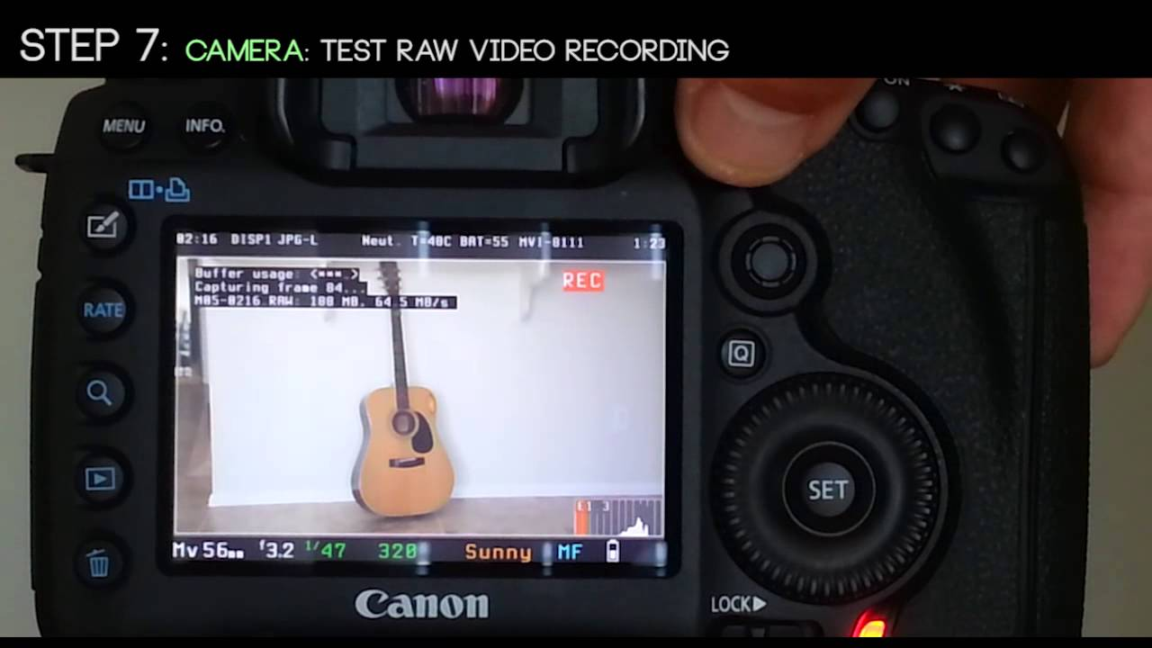 How to make footage with canon 5d mark ii.
