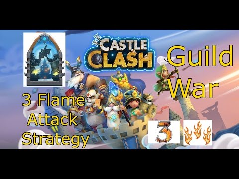 Castle Clash - Guild War Attack Strategies | Get High Points At Lower Townhall