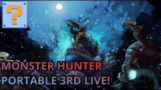 QBG Plays- Monster Hunter Portable 3rd! Monster Hunter World HYPE!!!