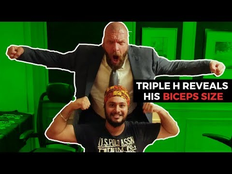 Triple H Reveals His Biceps Size To RJ Karam