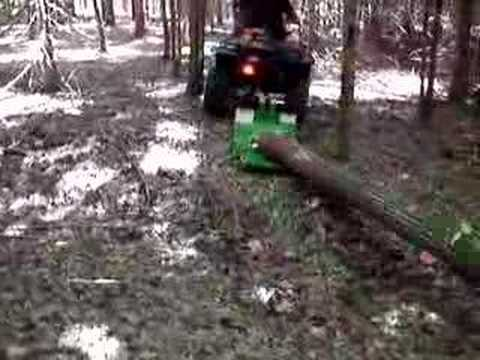 skidding logs with atv youtube. Black Bedroom Furniture Sets. Home Design Ideas