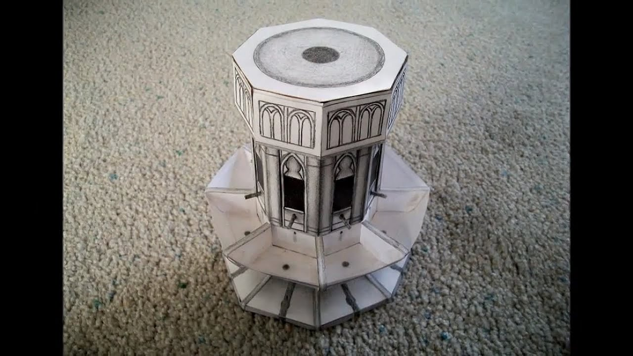 Paper Model Of The The Sink In Moaning Myrtle S Bathroom