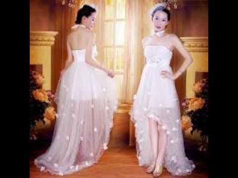 Vestido De Noiva Curto Na Frente E Longo Atras