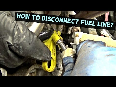 HOW TO DISCONNECT FUEL LINE. FUEL LINE REMOVAL TOOL