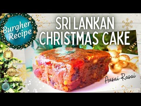 Sri Lankan Christmas Cake Fruit Cake Recipe English Youtube