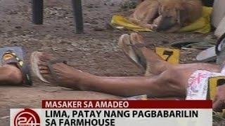 24Oras: Lima, patay nang pagbabarilin sa farmhouse sa Amadeo, Cavite