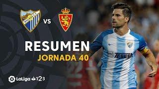 Resumen de Málaga CF vs Real Zaragoza (3-1)
