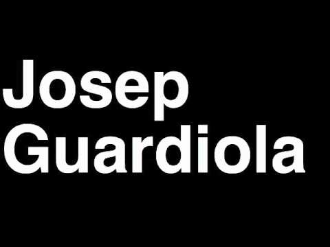 How to Pronounce Josep Guardiola FC Barcelona Football Soccer Manager Coach Angry Press Interview